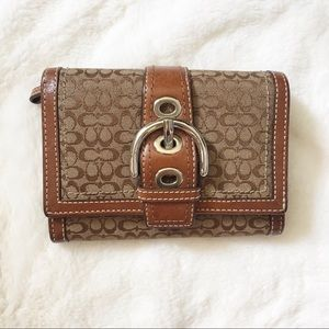 Coach Signature Bifold Leather Wallet
